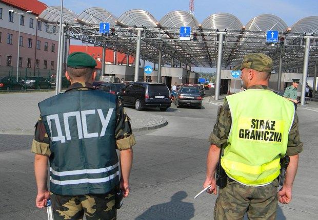 Паспортный контроль на границе с Польшей