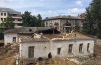 Поліція затримала двох активістів під час демонтажу історичного маєтку Барбана у Києві (оновлено)