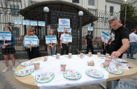 Під посольством РФ пройшла акція на честь зниклих в окупованому Криму людей
