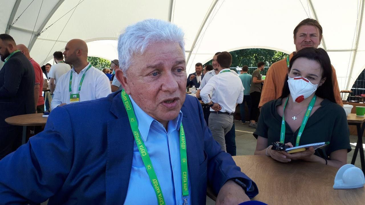 Олег Филимонов во время съезда партии