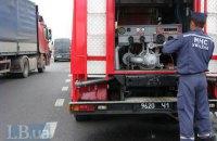 В Киеве в результате ДТП загорелся автомобиль