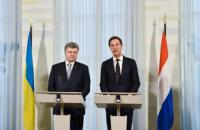 Порошенко и Рютте обсудили варианты разблокировки ратификации СА Украины с ЕС