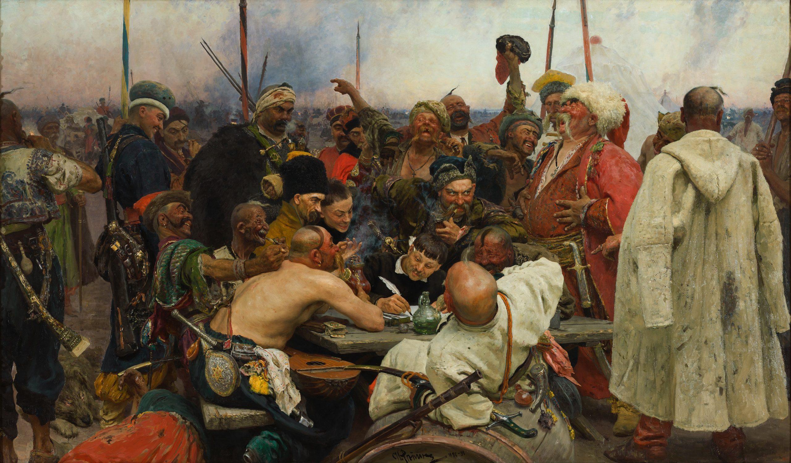 'Запорожці пишуть листа турецькому султану' (1880-1891)