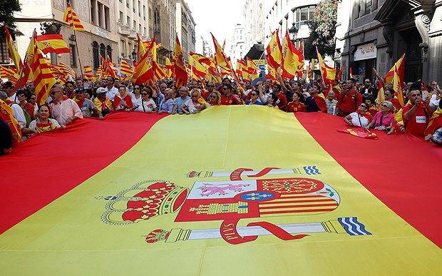 Митинг в поддержку единства Испании, Барселона, 08 октября 2017.