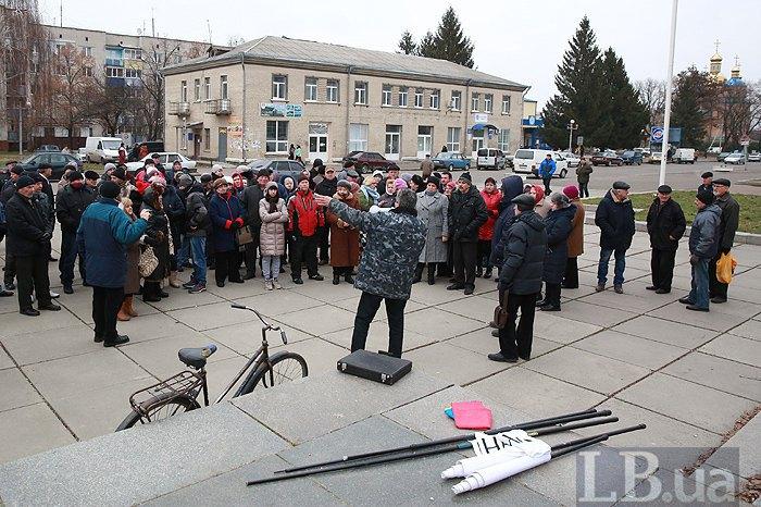 Павло Романенко під Чигиринською РДА