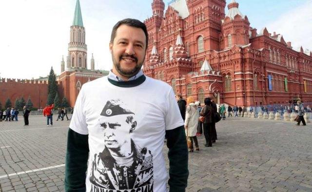 Вице-премьер Италии Маттео Сальвини на Красной площади в Москве
