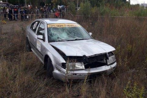 На гонках в Черкассах автомобиль сбил зрителя