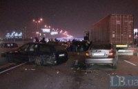 Одразу три ДТП за участю 11 автомобілів паралізували в неділю проспект Бажана в Києві