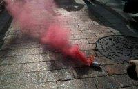 В милиционеров под Радой бросили дымовую шашку