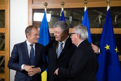 ВБрюсселе прошел мини-саммит Украина-ЕС сучастием Порошенко