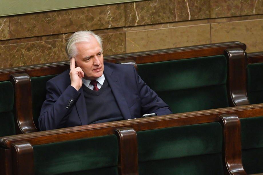 Лідер партії 'Згода' Ярослав Говін (у центрі) під час засідання Сейму
