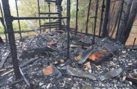 На Харківщині загорівся будинок на базі відпочинку, є постраждалі