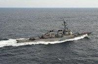 Американский эсминец столкнулся с танкером