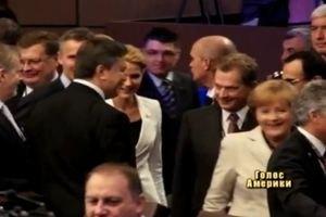 Янукович привітав Анґелу Меркель