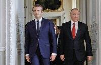 Путін поскаржився Макрону на вибори в Україні