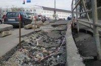 У Києві над новим метро вулиця тікає під землю