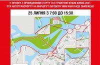 Сьогодні і завтра у Києві обмежать рух через спортивні змагання