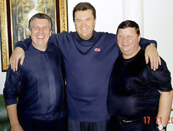 Володимир Щербань, Віктор Янукович і Олександр Волков