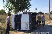 Под Одессой маршрутка с пассажирами врезалась в грузовик