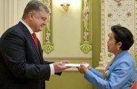 Порошенко прийняв вірчі грамоти від послів п'яти країн