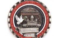Онлайн-магазин продает поддельную монету с ошибками в честь встречи Трампа и Путина в Хельсинки