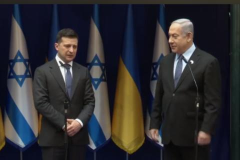 Зеленский встретился с премьером Израиля Нетаньяху