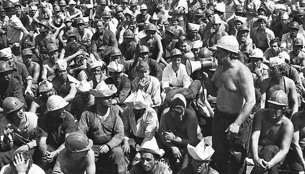 Мітинг донецьких шахтарів, липень 1989 р.