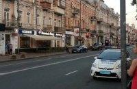 Журналистка сбила патрульного в Киеве