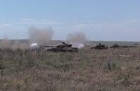 ВСУ провели масштабные танковые учения возле Азовского моря