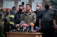 """Зеленський: """"Кожній родині, яка під час пожежі втратила будинок, ми вирішили надати 300 тис. гривень"""" (оновлено)"""