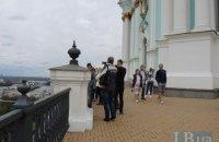 В Киеве открыли после реконструкции смотровую площадку Андреевской церкви