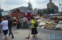 По улицам Крещатик, Городецкого и Михайловской возобновилось движение