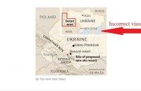 The New York Times опублікувало матеріал з картою України без Криму
