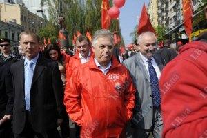 Коммунистам не позволили митинговать на Майдане 9 мая