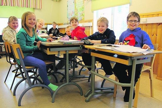 Учні фінської сільської школи