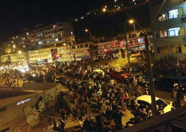 Эвакуация людей в Чили из-за угрозы цунами