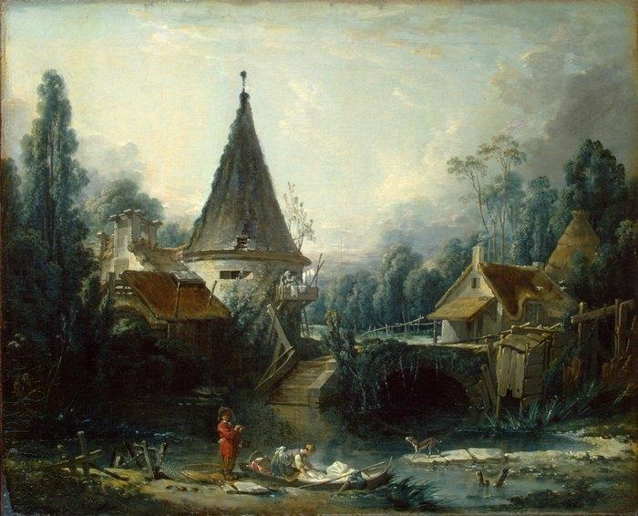 Франсуа Буше «Пейзаж в окресностях Бове» с.1740