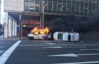 Полиция Брюсселя применила водометы против участников акции протеста