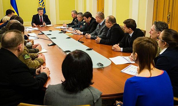 Встреча Порошенко с Советом волонтеров при Министерстве обороны Украины в ноябре 2014