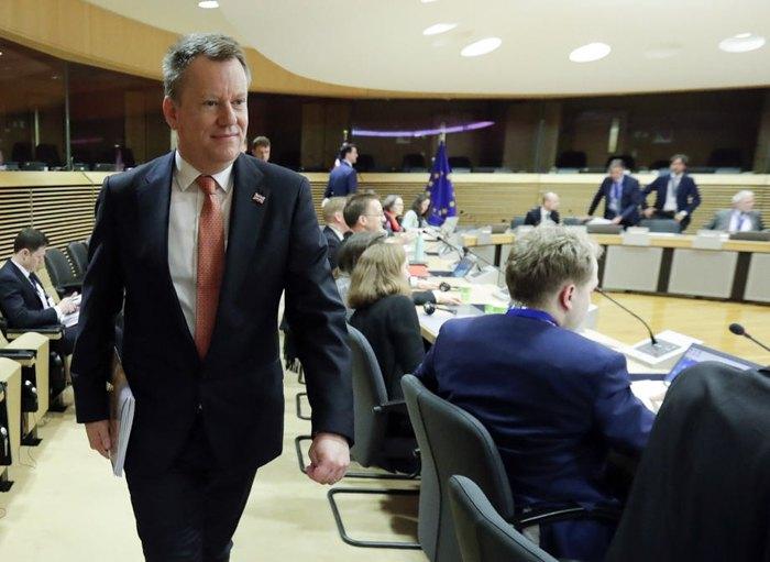 Советник британского премьер-министра по Европе Дэвид Фрост после переговоров о будущем сотрудничестве между Британией и Евросоюзом в контексте Брексита, Брюссель, 2 марта 2020
