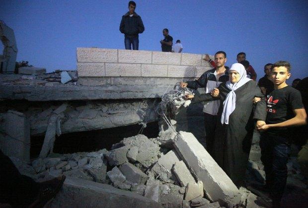 Разрушенный израильской армией палестинский дом