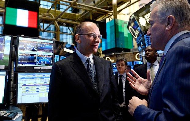 Энрико Летта на Нью-Йоркской фондовой бирже