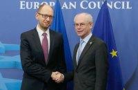 Украина подпишет политическую часть ассоциации с ЕС 21 марта, - Яценюк