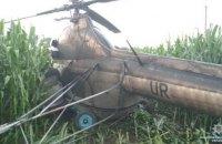 У Чернігівській області поліція розслідує аварійну посадку вертольота з п'яним пілотом