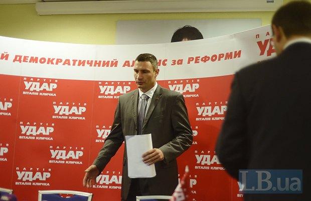 В партии Кличко не стали ждать выздоровления Турчинова