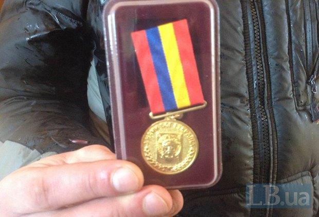 Медаль <<За жертвенность>> от УПЦ(КП)