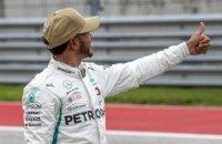 """Хэмилтон выиграл квалификацию Гран-При США, менее чем на десятую опередив двух гонщиков """"Феррари"""""""