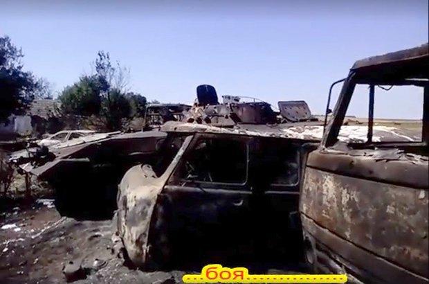 Сгоревшая Буханка и другие машины Донбасса
