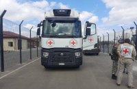 П'ять вантажівок везуть гумдопомогу ООН на окуповані території Донбасу