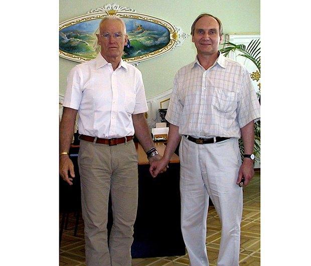 Александр Козловский и буддийский лама Оле Нидал